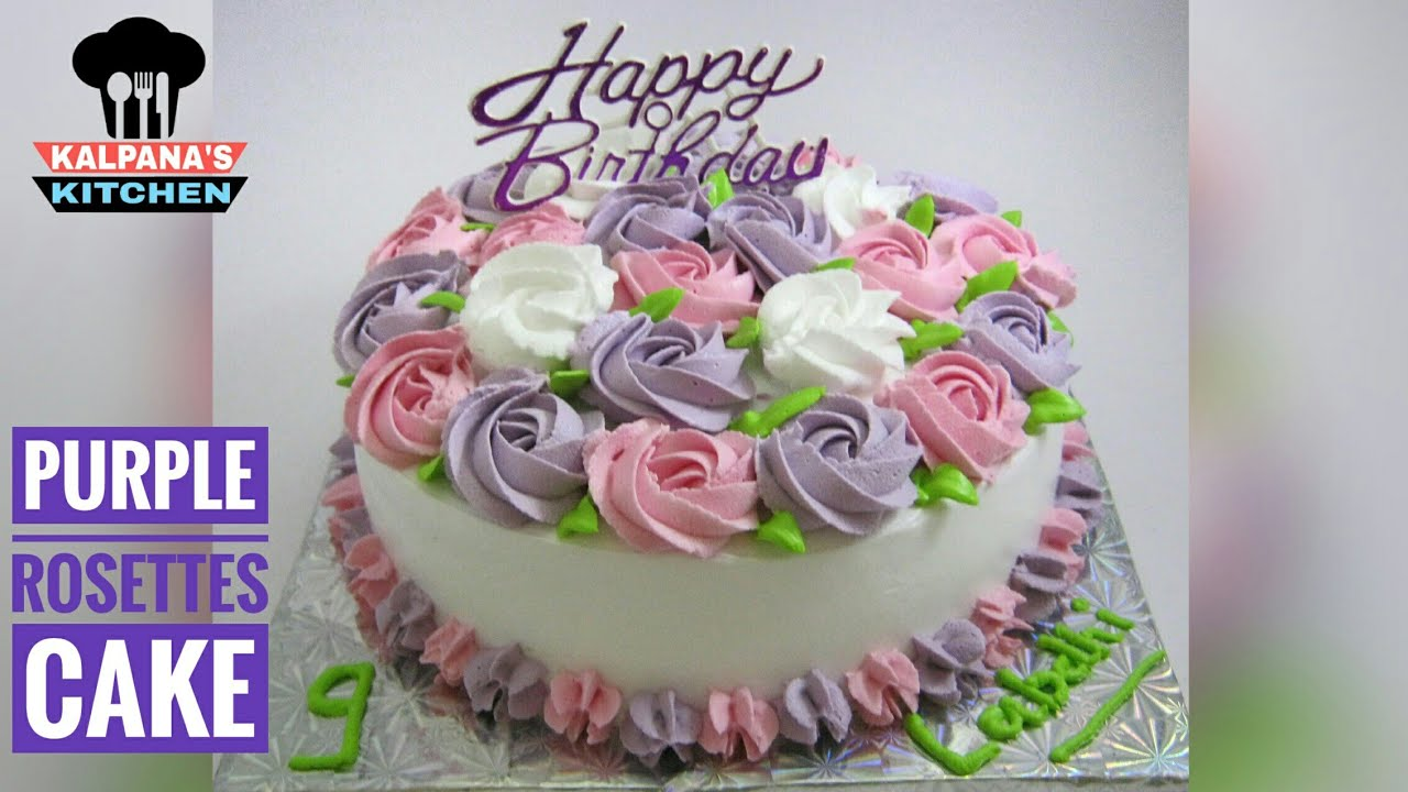 Purple Birthday Cake Purple Cake Decorations Cake Decorating