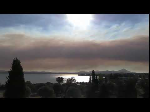 Fire again Now in Evia Euboea Ευβοια