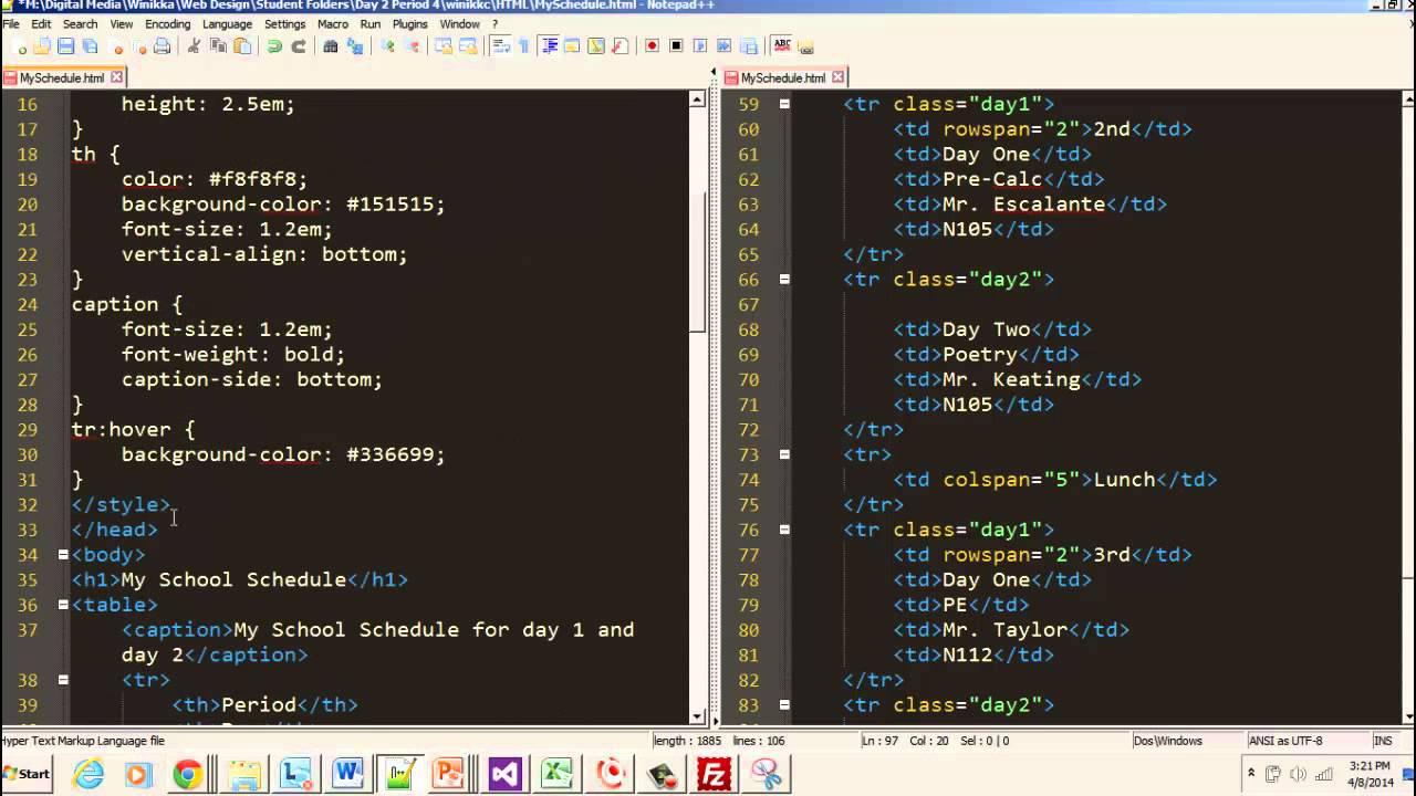 Advanced Tables Part 2 - Adding Columns & CSS