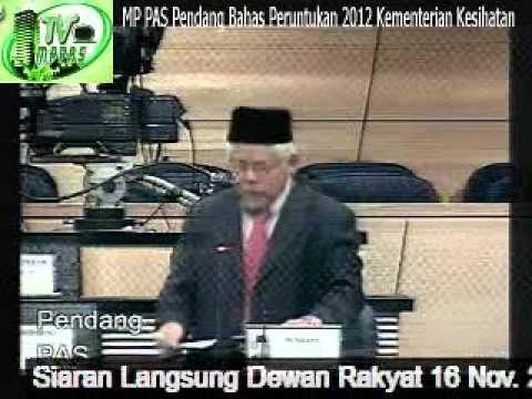 MP PAS Pendang Bahas Peruntukan 2012 Kementerian Kesihatan