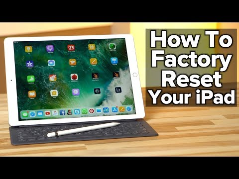 How to set an ipad back to factory settings