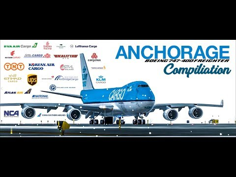 Anchorage 747 Take Off compilation. 22 different 747s of different Airilines.