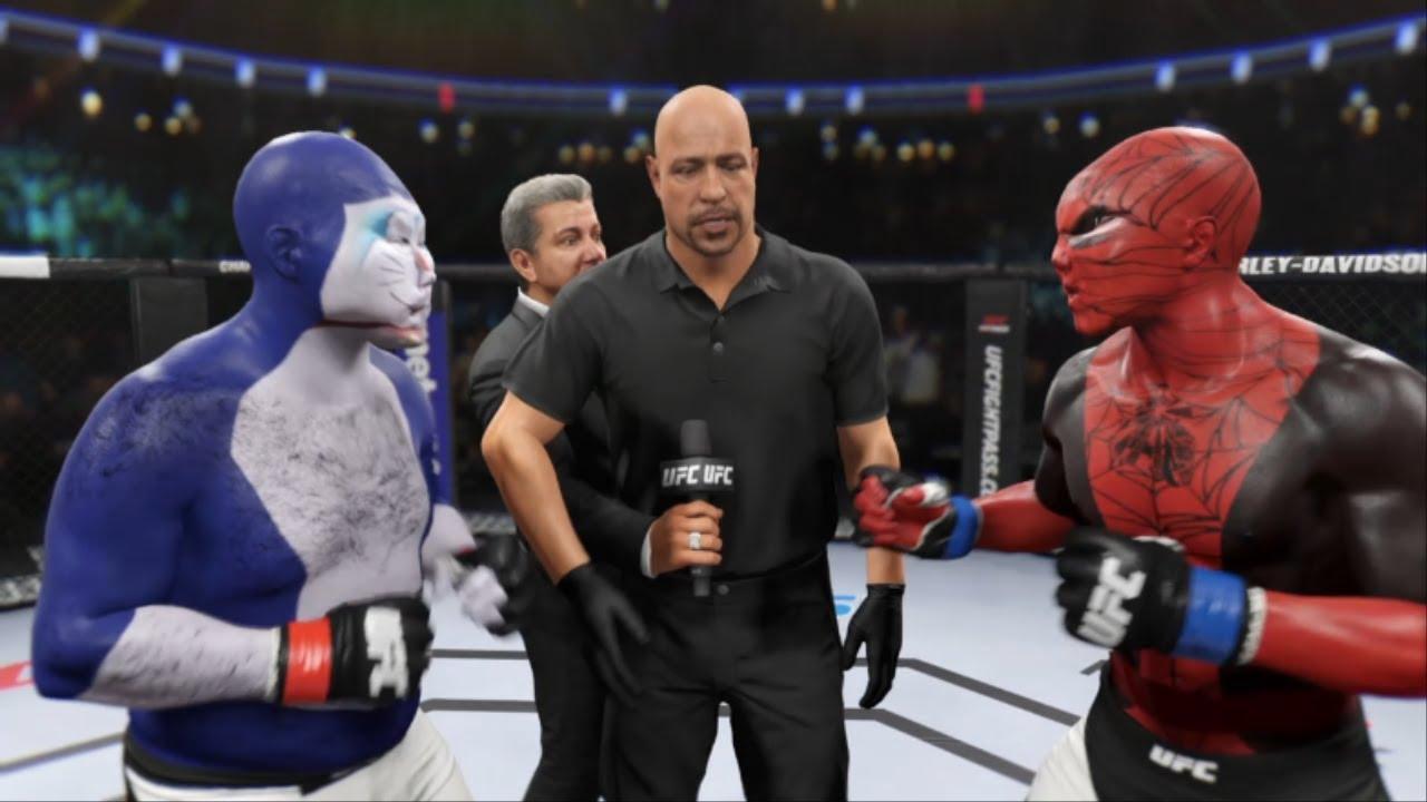 """UFC 도라에몽 VS 스파이더맨 """" 엄청난 맷집을 자랑하는 에몽이!"""