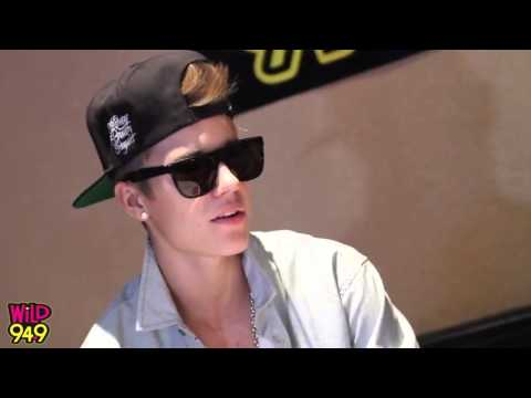Justin Bieber  Interview @ Wild 94.9 on October 6,2012