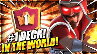 WORLD'S CRAZIEST DECK!! WIZARD CYCLE GETS #1 IN CLASH ROYALE!!