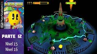 Ms. Pac-Man Maze Madness (PS1) (Español) (100%) - Parte 12: Nivel 15-16 - FINAL