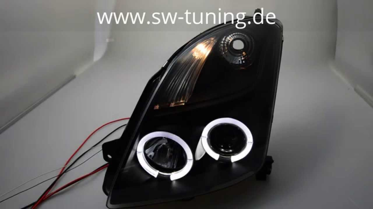 angel eye scheinwerfer suzuki swift ez mz 2 led. Black Bedroom Furniture Sets. Home Design Ideas