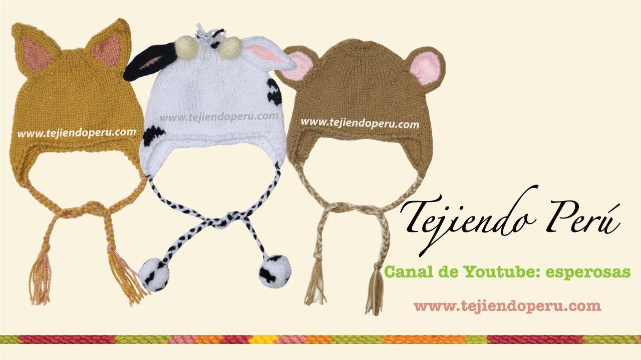 Gorros con orejas de animalitos para bebes y niños - YouTube