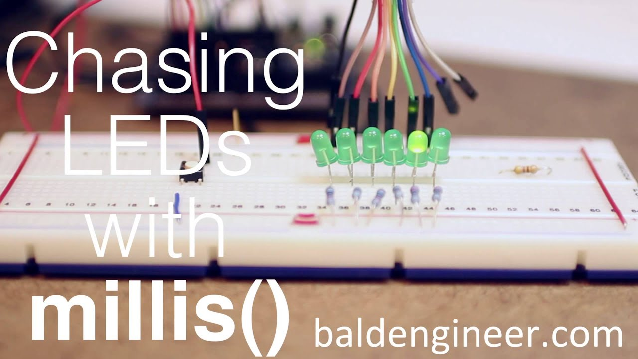 Arduino chasing a led with millis youtube