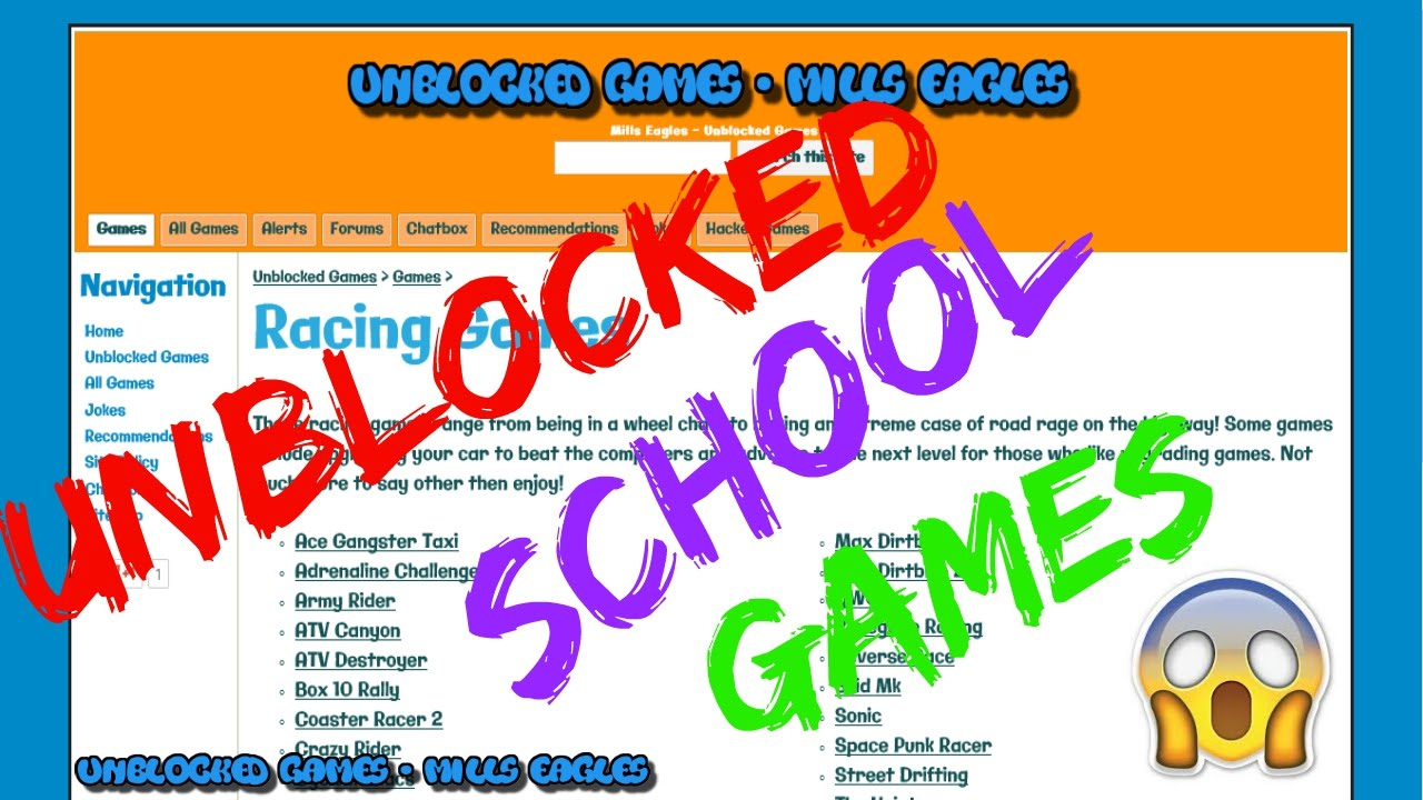 Unblocked Racing Games Mills Eagles Youtube