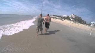 MURRELLS INLET / MYRTLE BEACH SHARK FISHING   4 1/2 FOOT SPINNER SHARK !!!