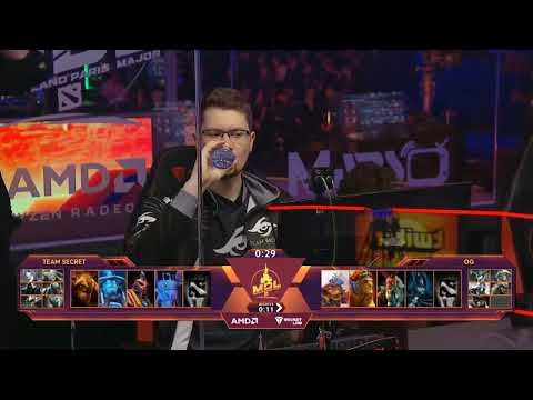 MDL Disneyland Paris Major OG vs Secret game 1