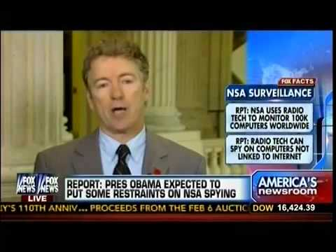 RPT  NSA Using Radio Waves To Snoop On Offline Computers   Sen Rand Paul   America's Newsroom