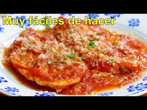 PECHUGAS DE POLLO en salsa de tomate