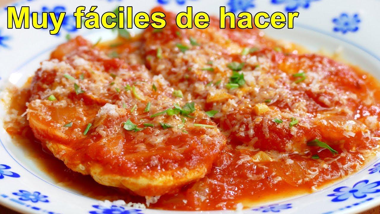 Pechugas De Pollo En Salsa De Tomate Youtube