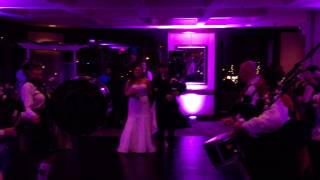 Incredible Bagpipe Wedding Reception Entrance by Bride and Groom!