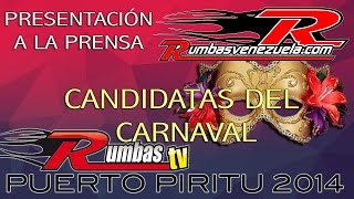 Presentacion A La Prensa Candidatas Carnavales Puerto Piritu 2014