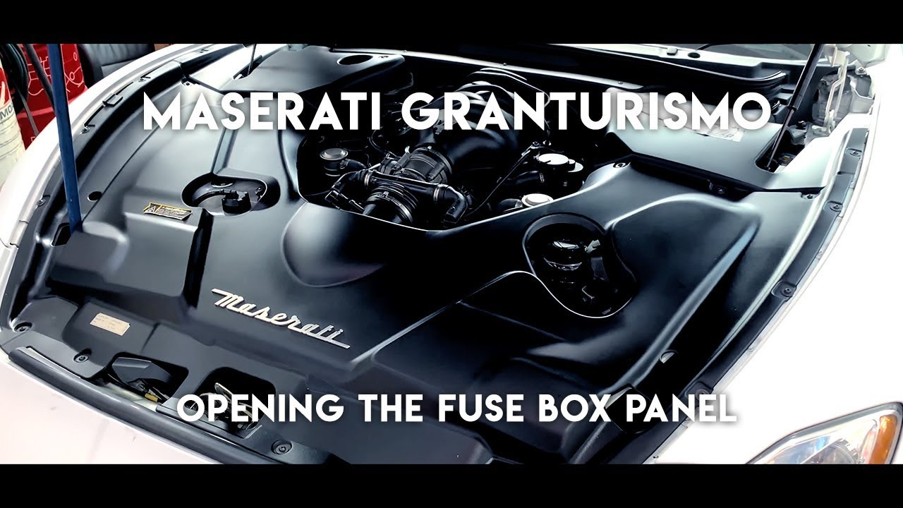 small resolution of 2008 maserati granturismo how to open the fuse box panel cigarette port not working