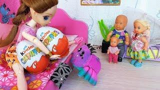 КИНДЕР+КИНДЕР-! КАК МАМА КАТЮ И МАКСА ОБХИТРИЛА) Веселая семейка мультики с куклами Барби