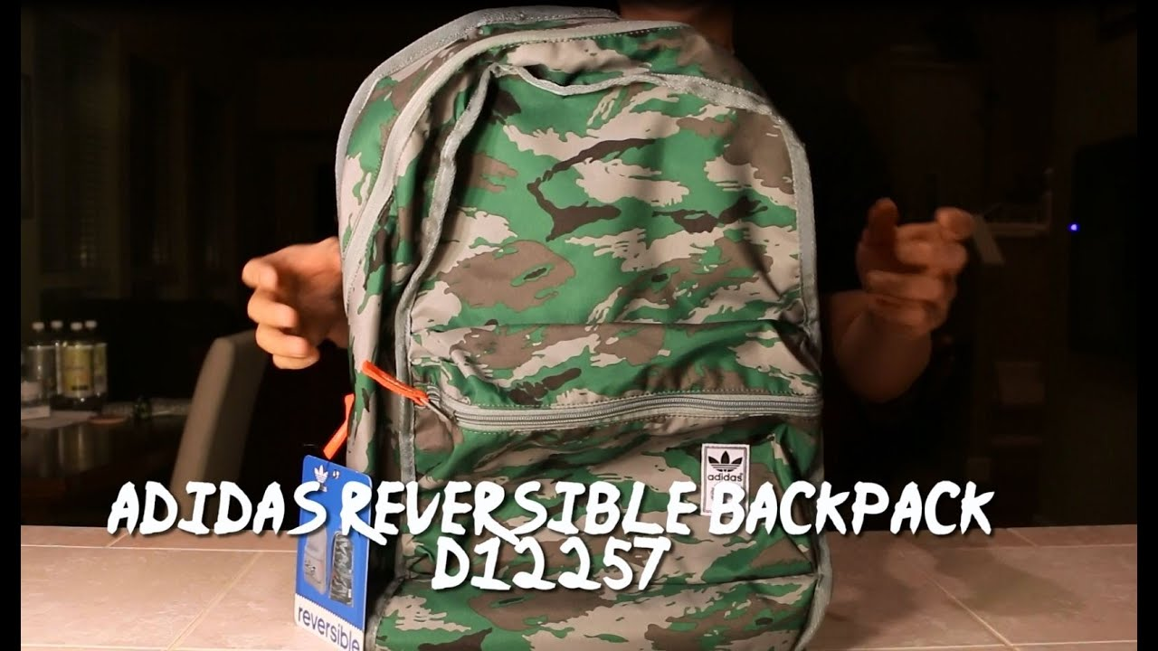 adidas Reversible Backpack D12257 - YouTube 81d57af02ff17