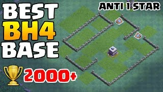 BEST BH4 TROPHY BASE 🏆 New Builder Hall 4 Anti Giant Base Layout with Replays - Clash of Clans