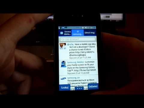 Serwisy społecznościowe w Samsung Wave 723. samsungbada.pl