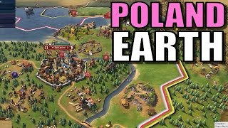 Civ 6: Poland Gameplay [True Start Earth Location Map] Let's Play Civilization 6 Poland   Part 5
