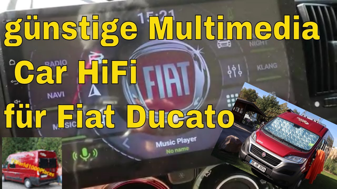 "100,10"" Multimedia HiFi Navi Radio im Ducato Kastenwagen / Wohnmobil"