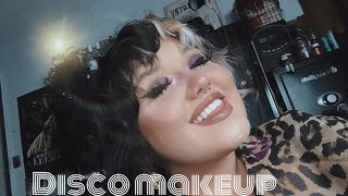 Purple 70's Disco Makeup!