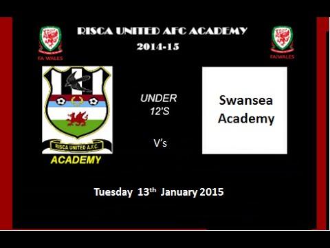 Risca Utd vs Swansea Academy u12s 13.01.15