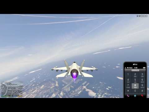 Grand Theft Auto V: Easiest Way To Get The P-996 Lazer (CHEATS USED)