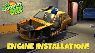 Installing & Turning Over the Motor- My Summer Car Gameplay- EP 5