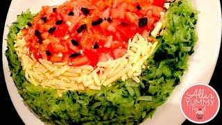 Chicken Salad Recipe, Watermelon Look-Alike - Салат Арбуз Рецепт