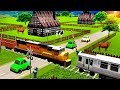 Local Train Game: Railroad Crossing - Videos For Kids