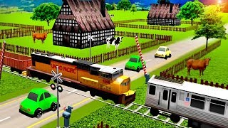 Local Train Game: Railroad Crossing | Train Videos For Toddlers | Cars and Trains: Videos For Kids