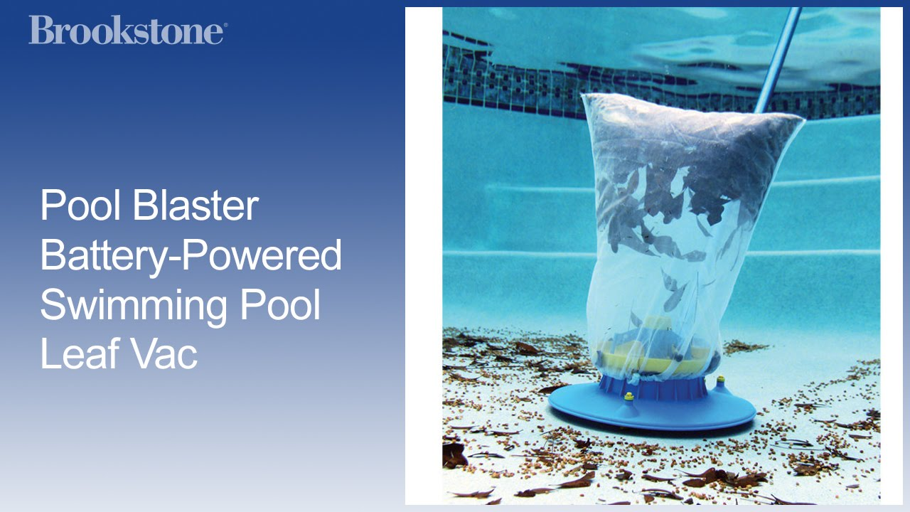 Pool Blaster Battery Powered Swimming Pool Leaf Vac Youtube