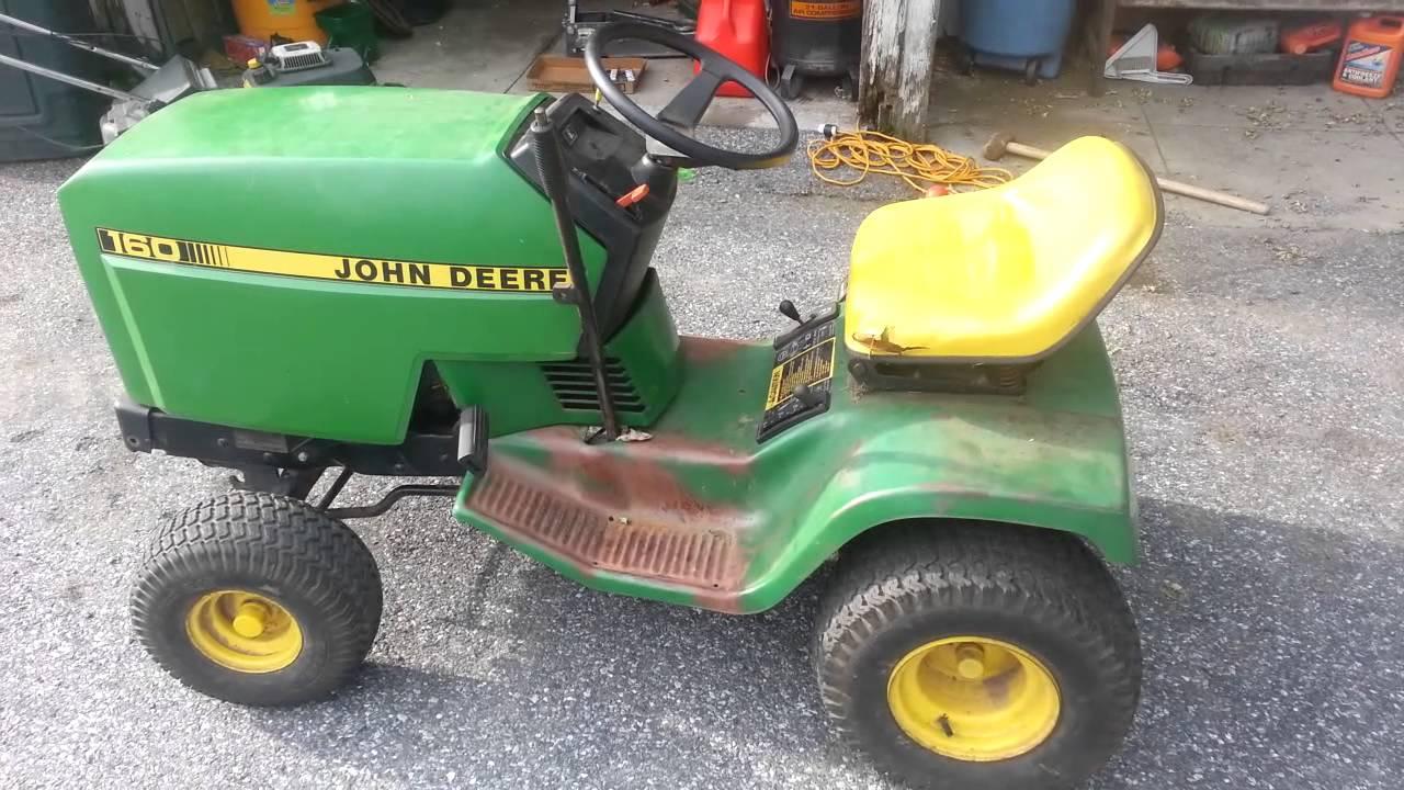 our john deere 160 tractor youtube. Black Bedroom Furniture Sets. Home Design Ideas