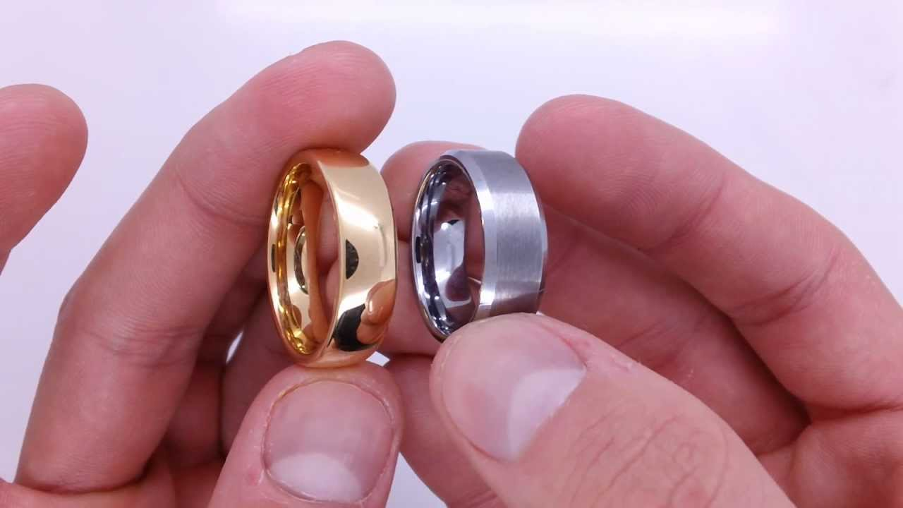 Gold Plated Tungsten Ring - YouTube