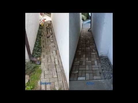 Repair Uneven/Pave Brick Garden Path in Yard without Any Cos