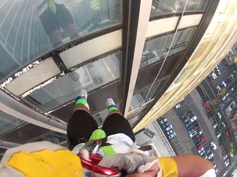 How not to abseil....