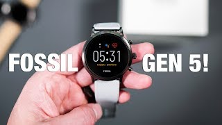 FOSSIL GEN 5 Unboxing and First Look!