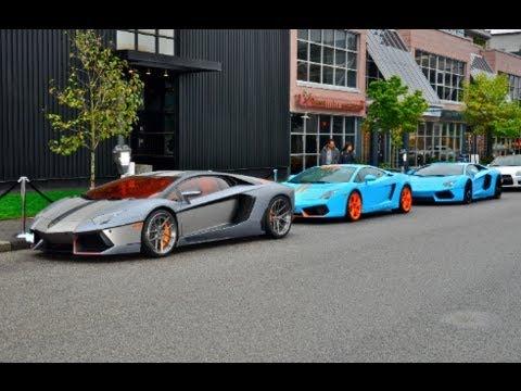 Lamborghini Vancouver Grand Opening Attivo Lp700 4 Blu Cepheus