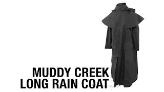 Muddy Creek Long Rain Coat Duster Jacket