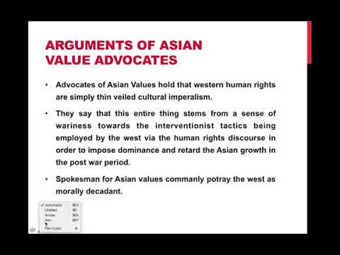 asian values and western values