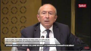 Affaire Benalla : Audition de Gérard Collomb, ministre de l'intérieur, au Sénat