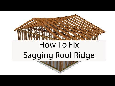 How To Raise Sagging Roof Ridge – Building Repair Ideas