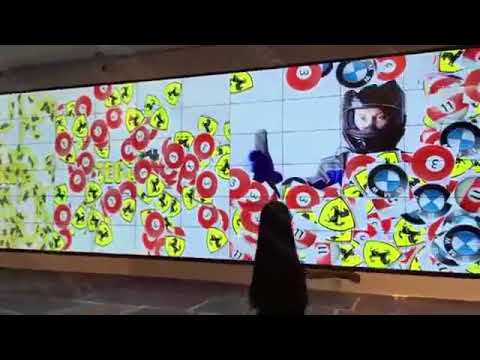 Richtech Interactive LCD Wall - Singapore Mall, World Largest!