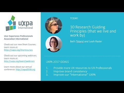 10 Research Guiding Principles that we live and work by