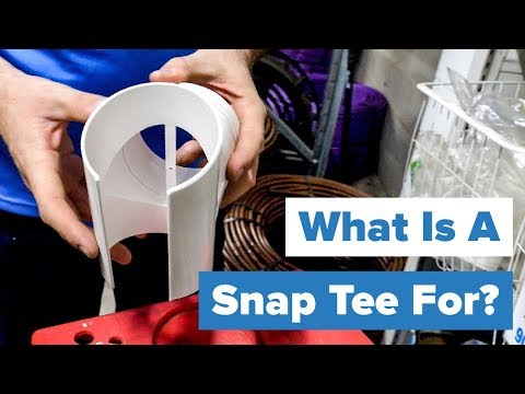 What is a Stormwater Snap Tee? - YouTube