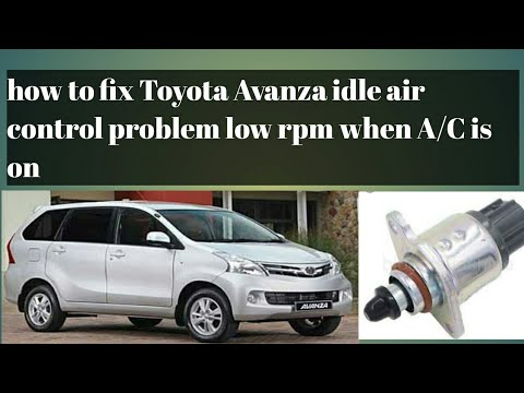 How to fix TOYOTA AVANZA idle air control PROBLEM low rpm when AC is on